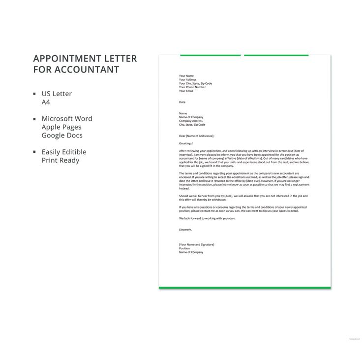 Appointment Letter for Accountant Appointments, Google docs and - inventory spreadsheet template google docs
