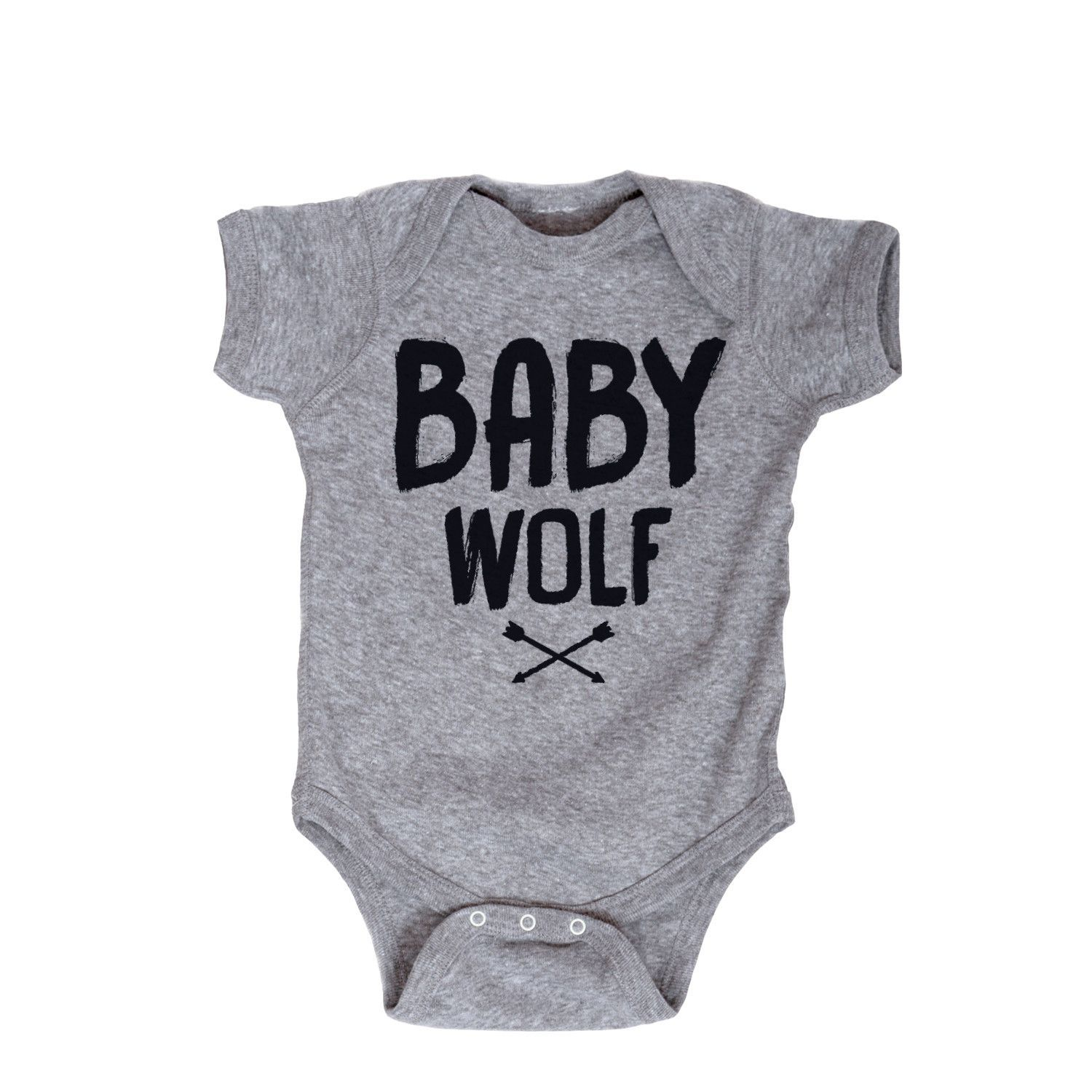 Baby Baby Long Sleeve Bodysuit Word Gray Black Snap Closure Toddler Baby Girls Boys Layette Romper Outfits Baby Boys