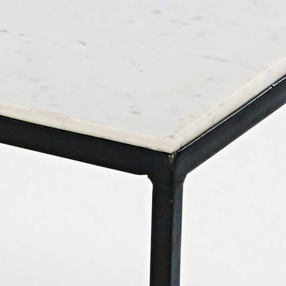 Vierkante Salontafel Van Wit Marmer En Zwart Metaal Maisons Du Monde Couchtisch Quadratisch Schwarzes Metall Couchtisch