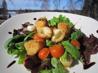Pata porisee: Friteerattua mozzarellajuustoa ja kirsikkatomaatti...