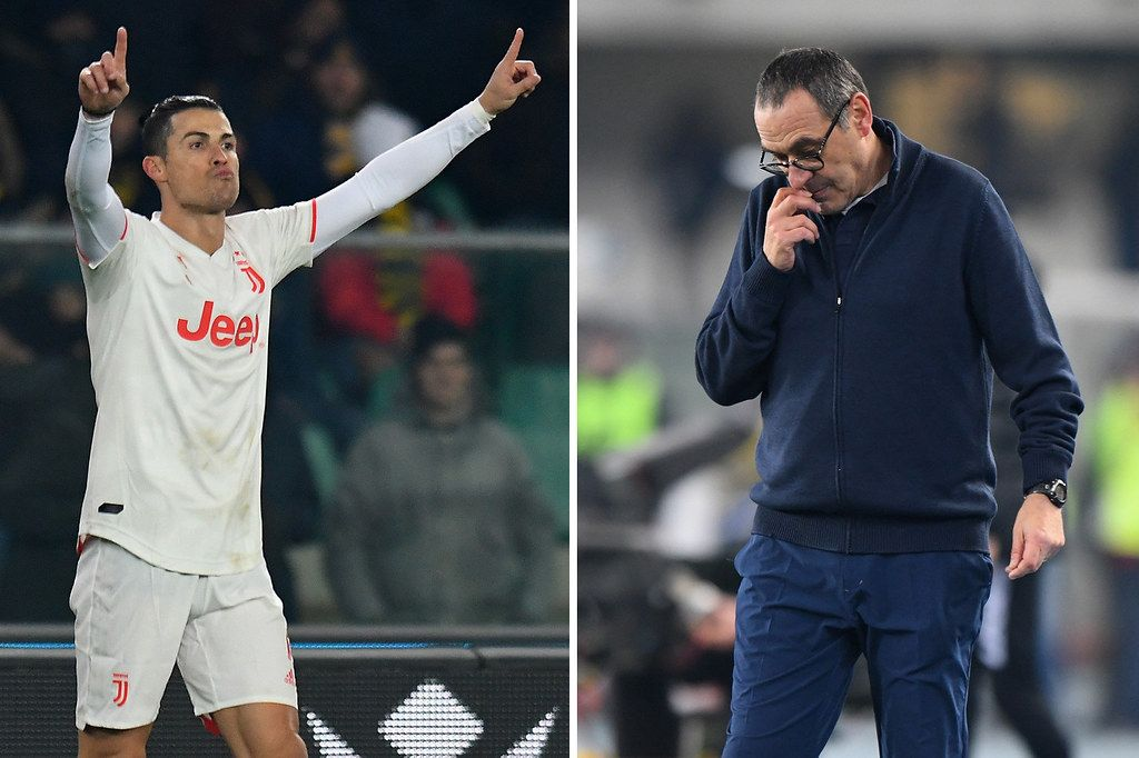 Ronaldo makes history with stunning Juventus goal but fans turn on Sarri as Serie A leaders suffer shock defeat