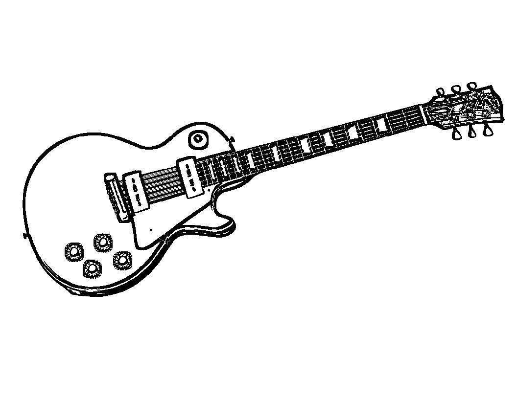 Atractivo Página Para Colorear De Guitarra Regalo - Ideas Para ...