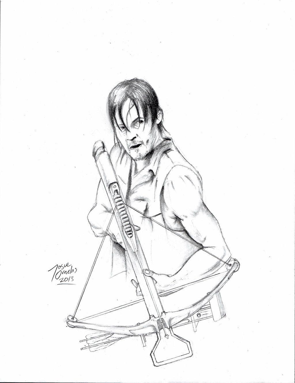 Wa walking dead pumpkin stencil - Walking Dead Daryl Coloring Pages Google Search