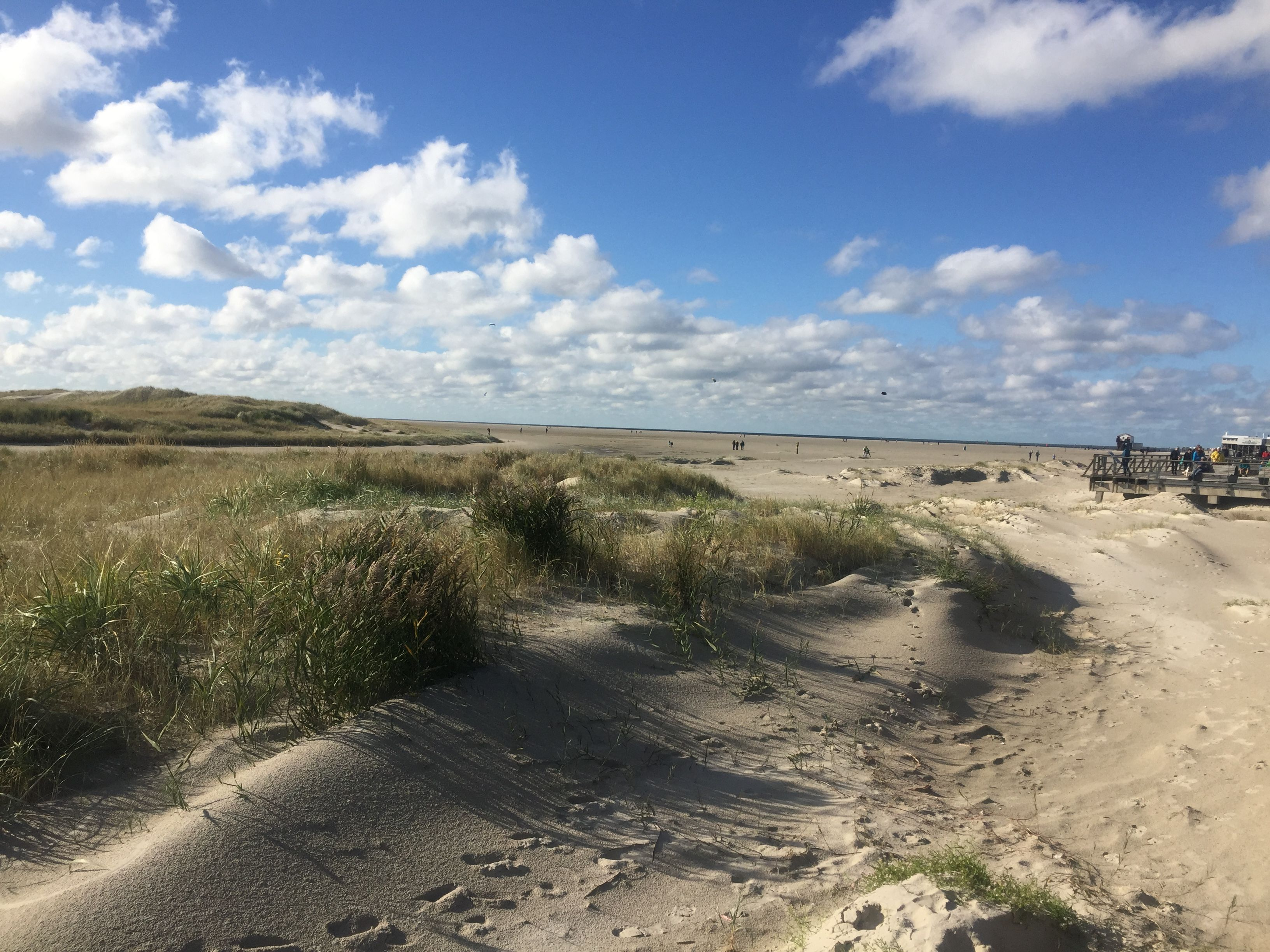 St. Peter Ording Herbst am Strand