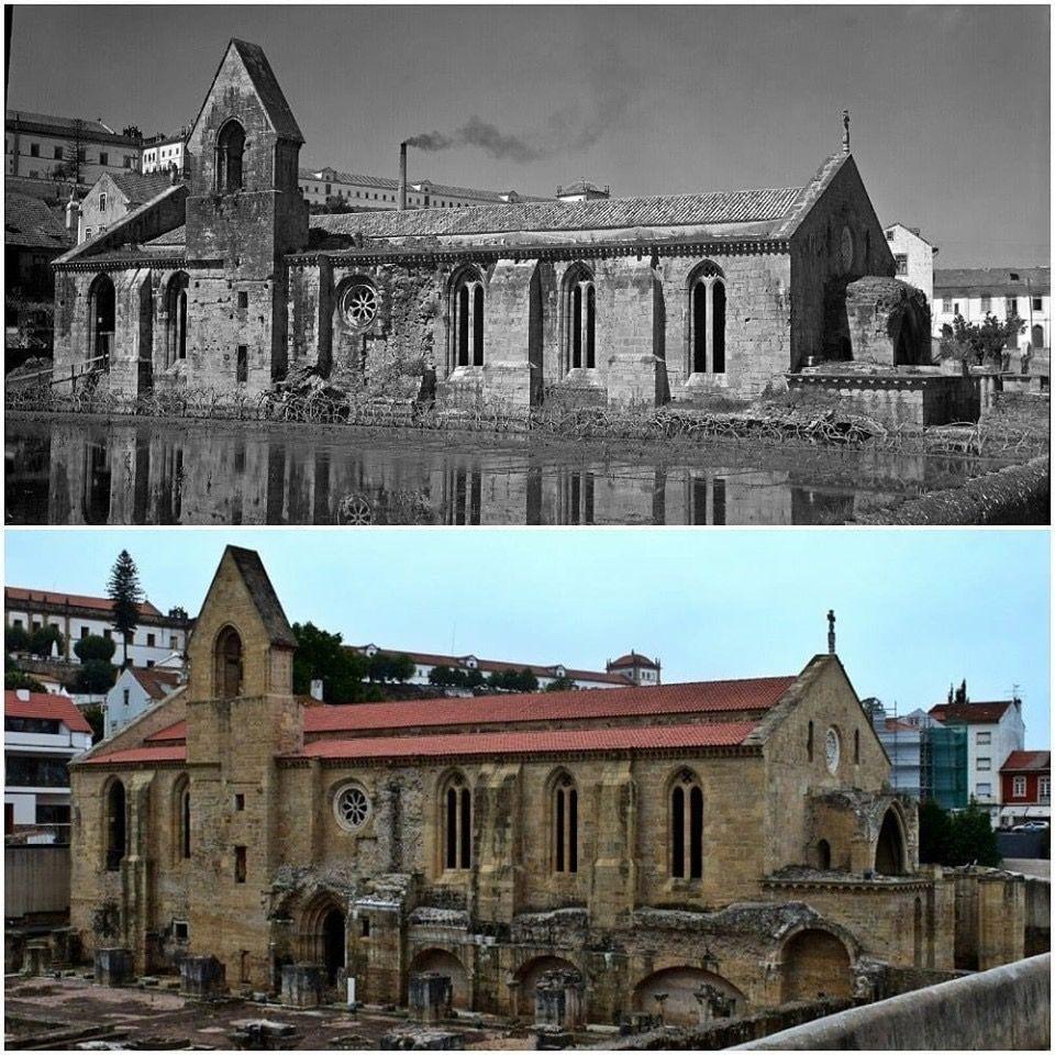 El Monasterio De Santa Clara A Velha Coimbra Portugal Amazing Buildings Flood Ancient Mysteries