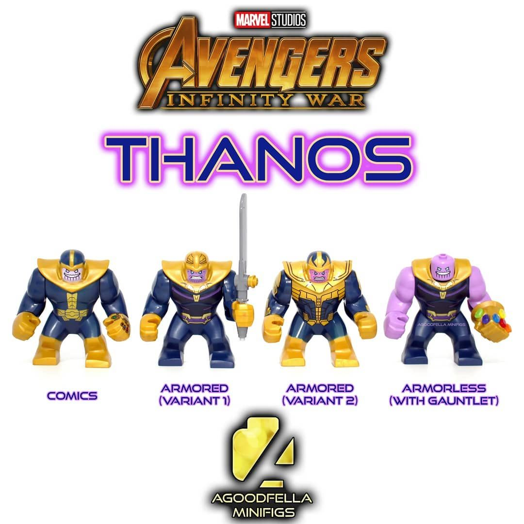 Marvel Thanos Gauntlet Mini Figures Building Blocks Fit lego Perfect Gift 2019