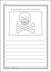 Pirate Colour And Write Sheets Sb5779 Sparklebox Piratas En La