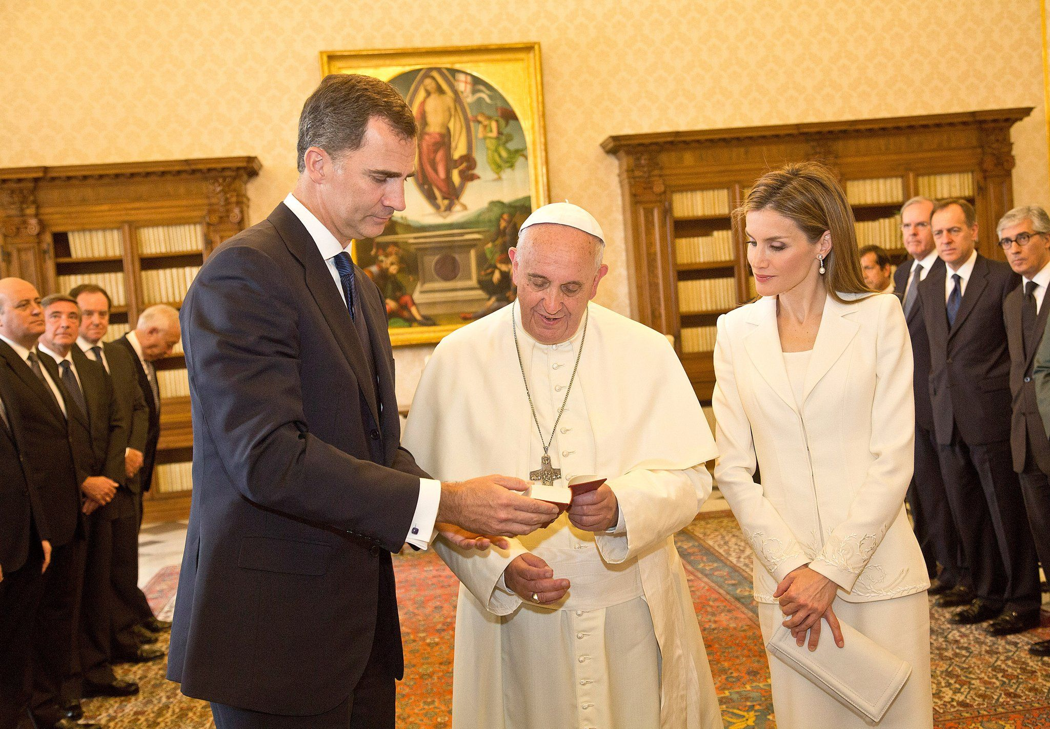 In June 2014, Letizia and Felipe met with Pope Francis at the Vatican.