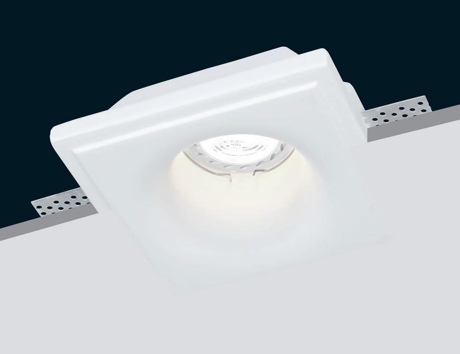 Plafón de yeso invisible para techo y LED