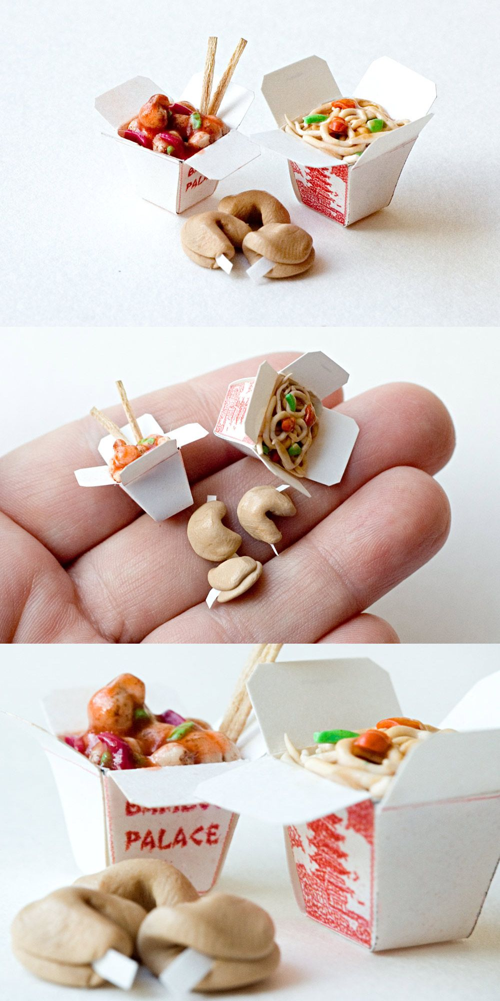 more mini chinese take out mini obsession food pinterest miniatur mini dinge und fimo. Black Bedroom Furniture Sets. Home Design Ideas