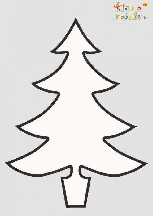Pochoir Sapin De Noël 2l à Imprimer Pochoir Noel Papier