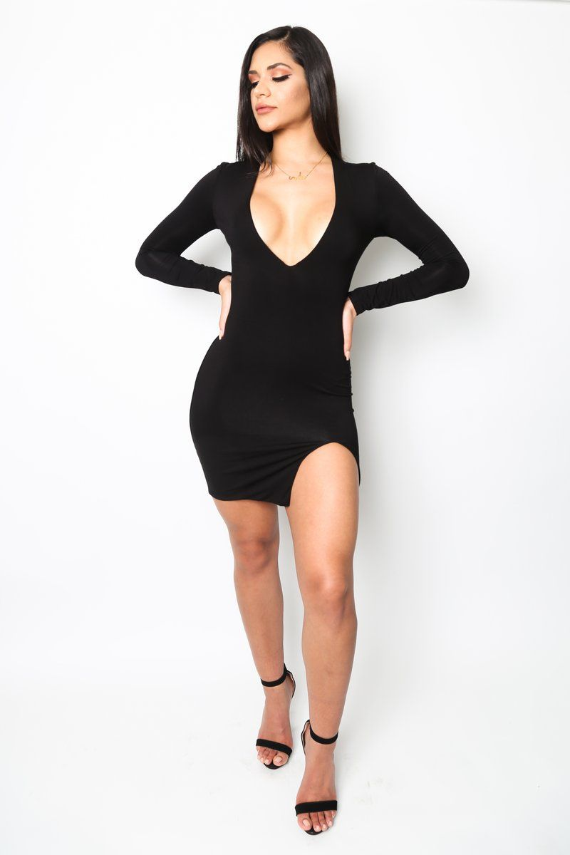 7e13b0607a This simple little black dress is a must-have! With it s deep v-
