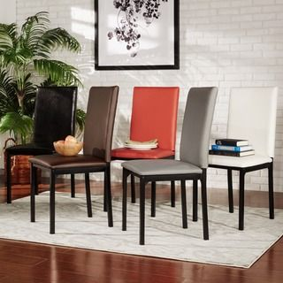 Inspire Q Darcy Espresso Metal Upholstered Dining Chair Set Of 2 Gorgeous Espresso Dining Room Sets Design Decoration