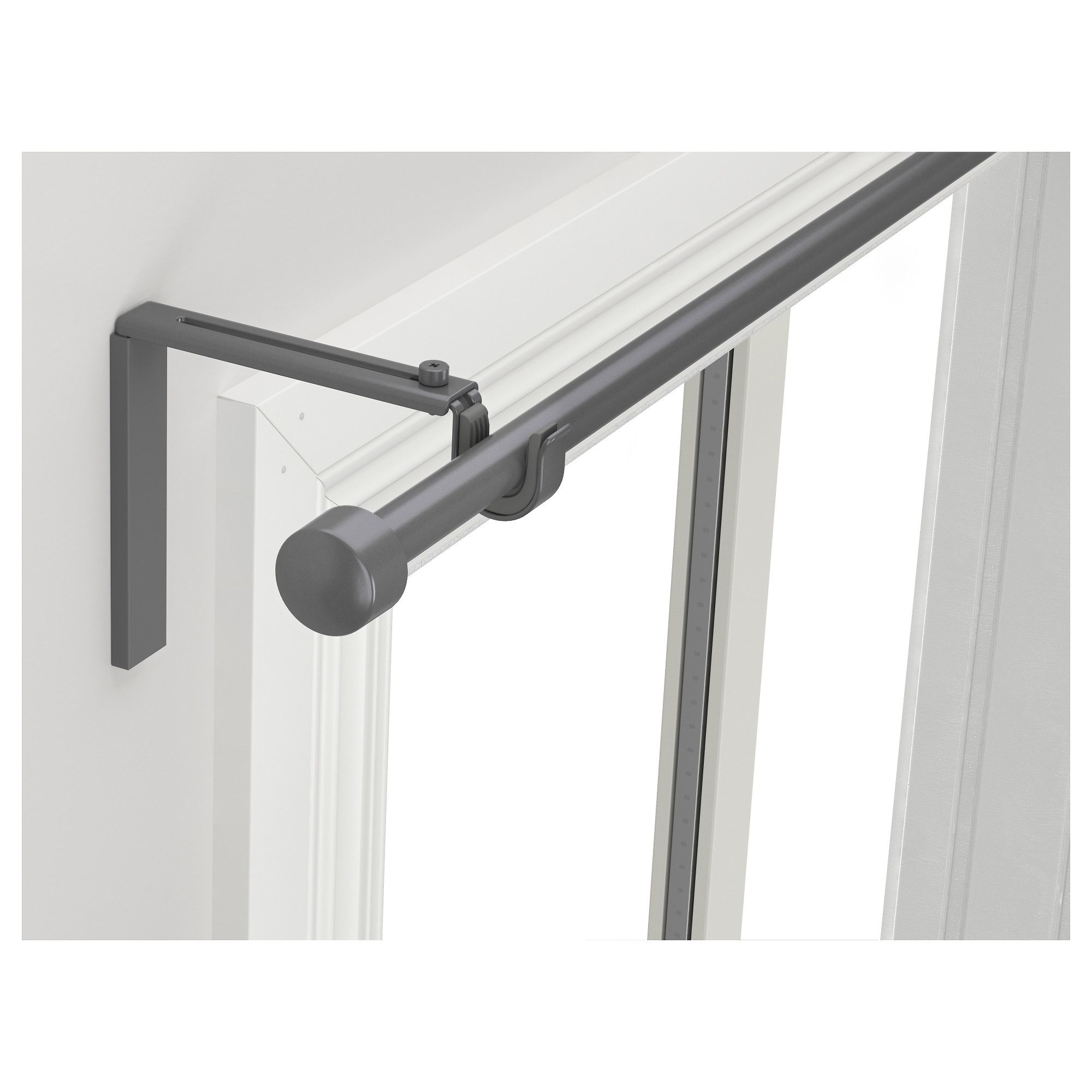 IKEA RACKA Silver Color Curtain Rod Combination In 2020