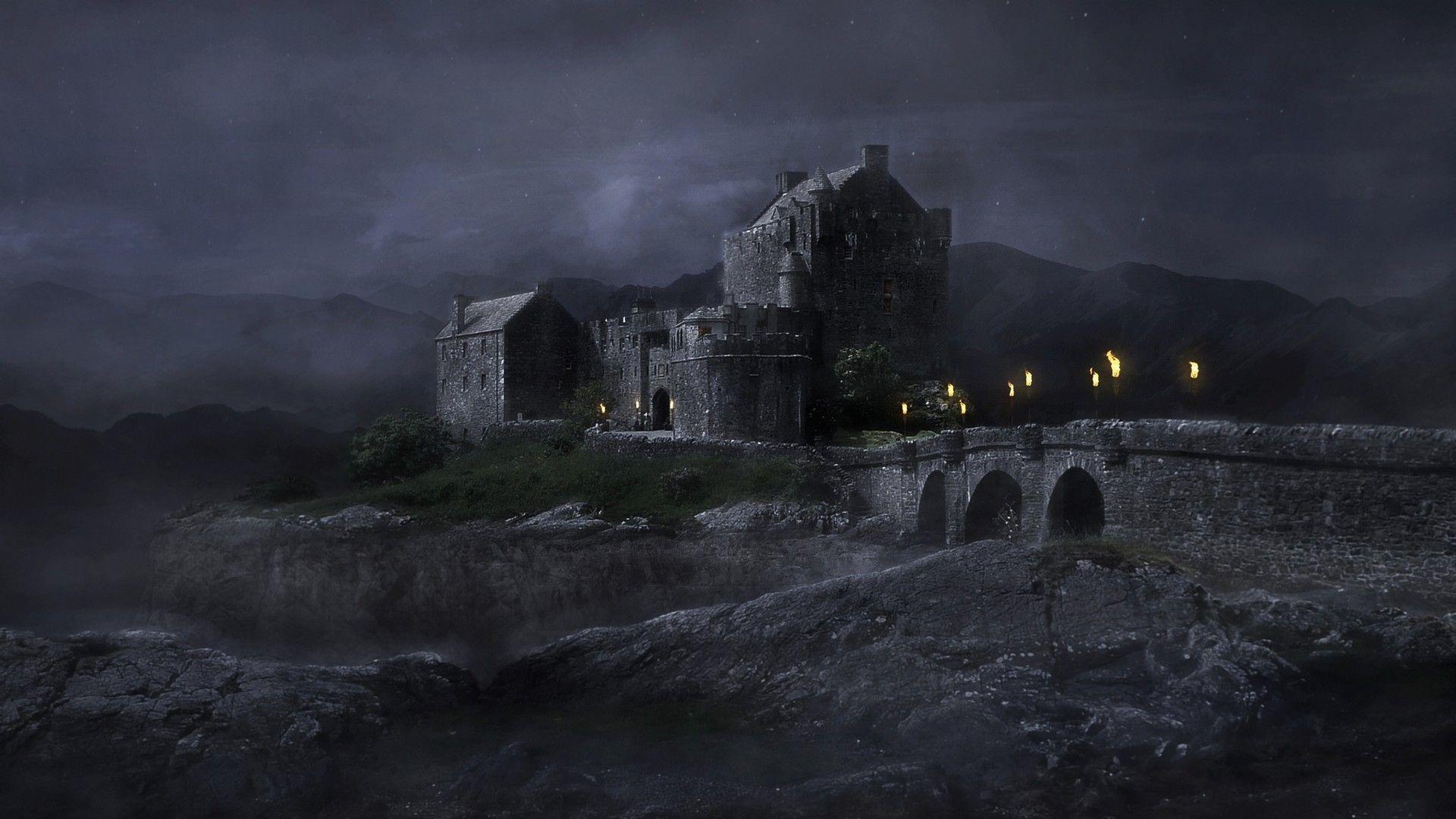 Dark Night Sebastian Luedke Fantasy Landscape Night Landscape Dark Night