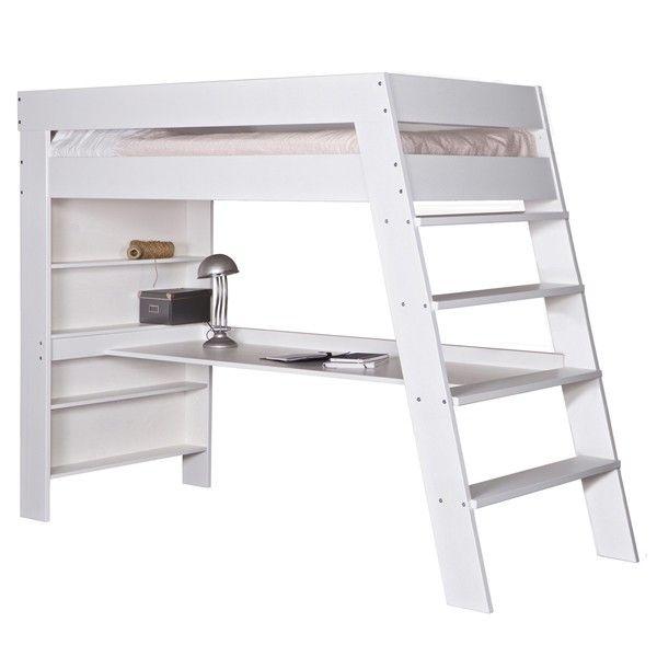 hochbett julien schreibtisch kinderbett leiter kinderzimmer bett stockbett wei wohnen. Black Bedroom Furniture Sets. Home Design Ideas