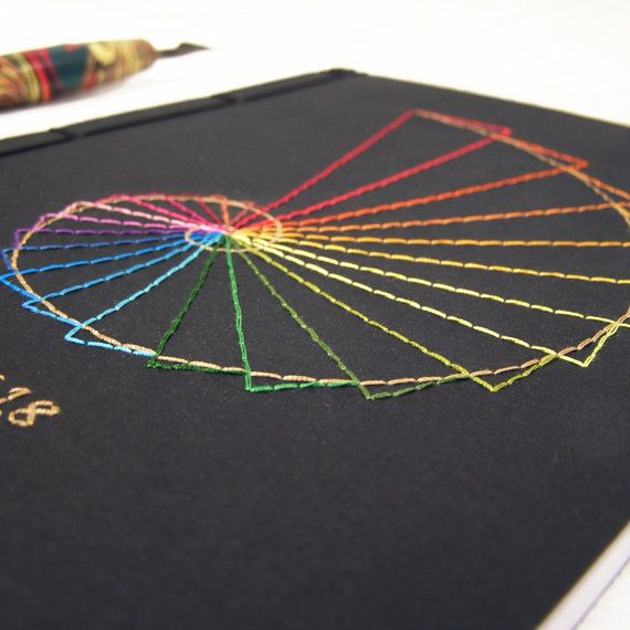 Golden Ratio. Geometry Embroidered A5 by FabulousCatPapers on Etsy