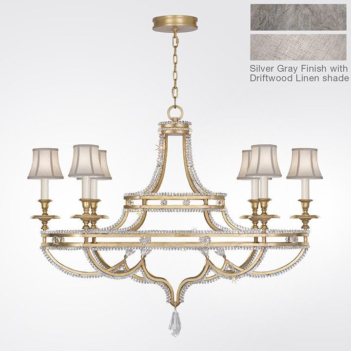 Prussian Neoclassic 6 Light Candle Style Chandelier