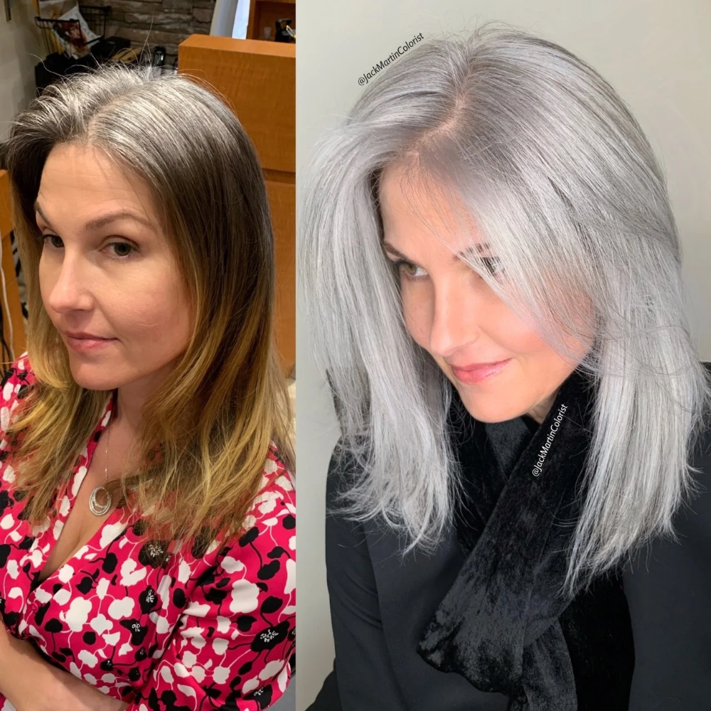 A Colorist Explains How to Get the Silver Hair of