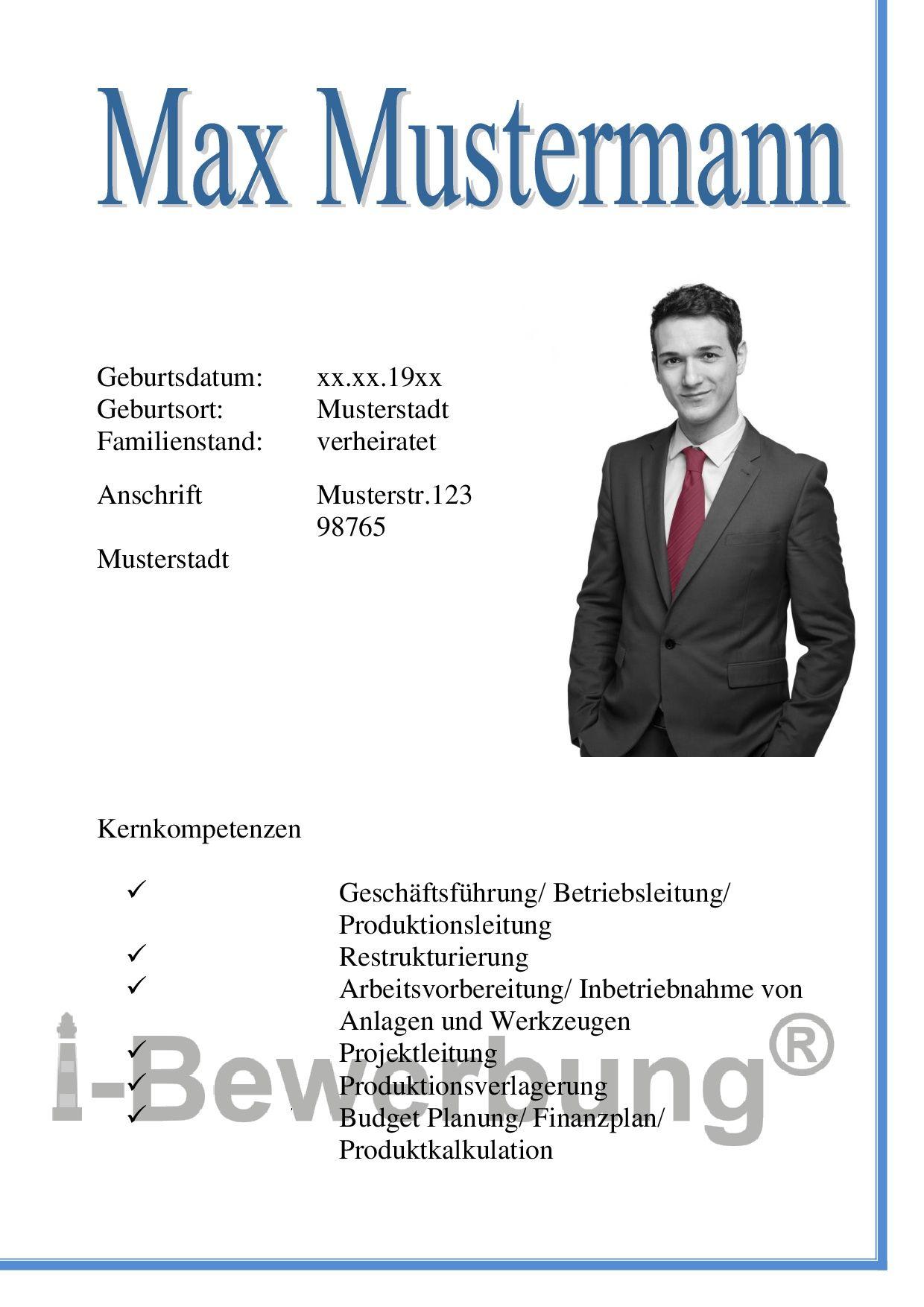 Auffälliges Deckblatt Zur Initiativbewerbung Als Führungskraft