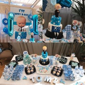 Baby boss party theme. Sweet table | liam 1st bday | Baby ...