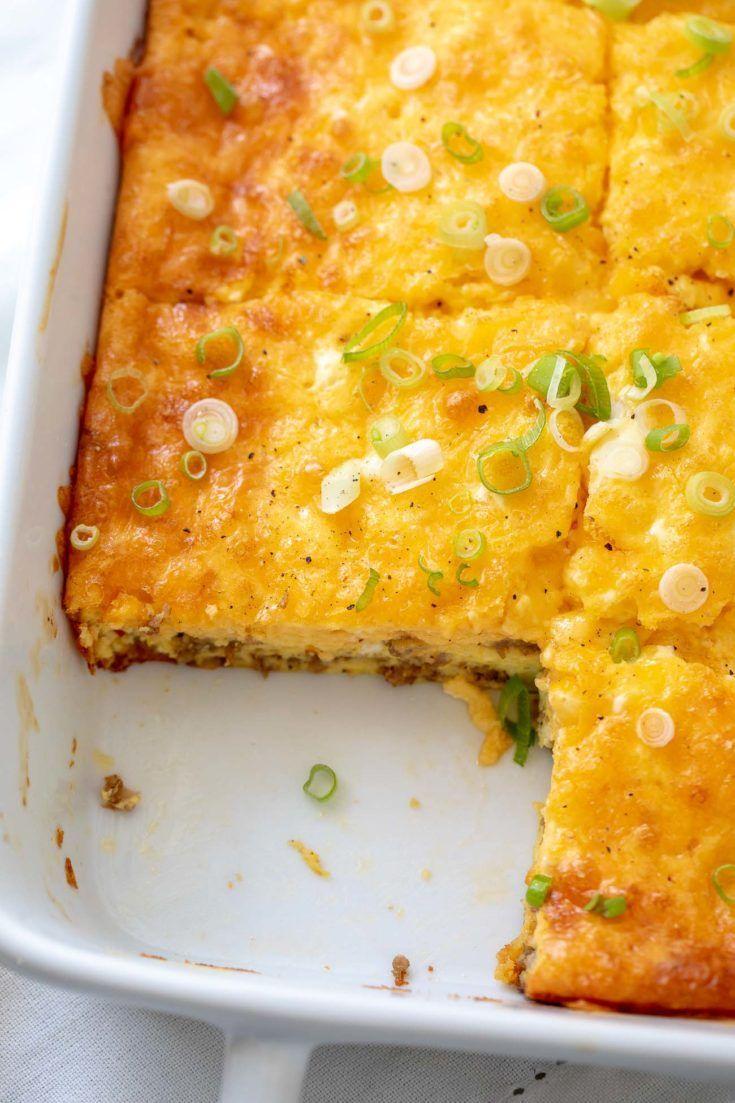 Keto Breakfast Casserole Recipe - Low Carb Egg Casserole - Breakfast Casserole - Ketogenic - Diet #K...