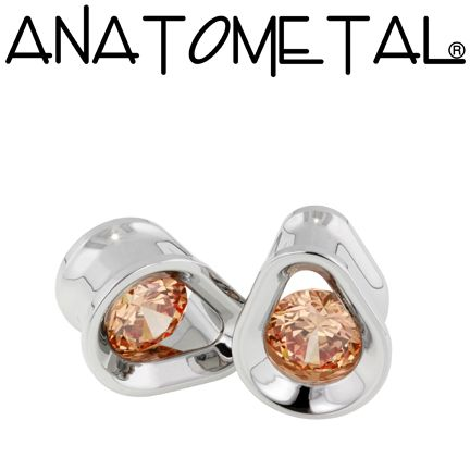- Single Stone Teardrop Eyelets - ANATOMETAL - Professional Grade Body Piercing Jewelry