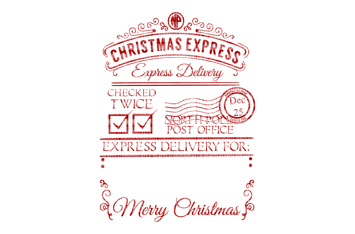 Christmas Express Santa Sack Svg Png 33952 Svgs Design Bundles Christmas Address Labels Christmas Express Christmas Package Labels