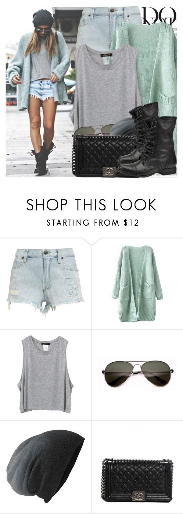"""""""1946. Street Style"""" by chocolatepumma ❤ liked on Polyvore featuring Anja, Oris, Genetic Denim, Chanel, Steve Madden, StreetStyle, edgy, CasualChic and StreetChic"""
