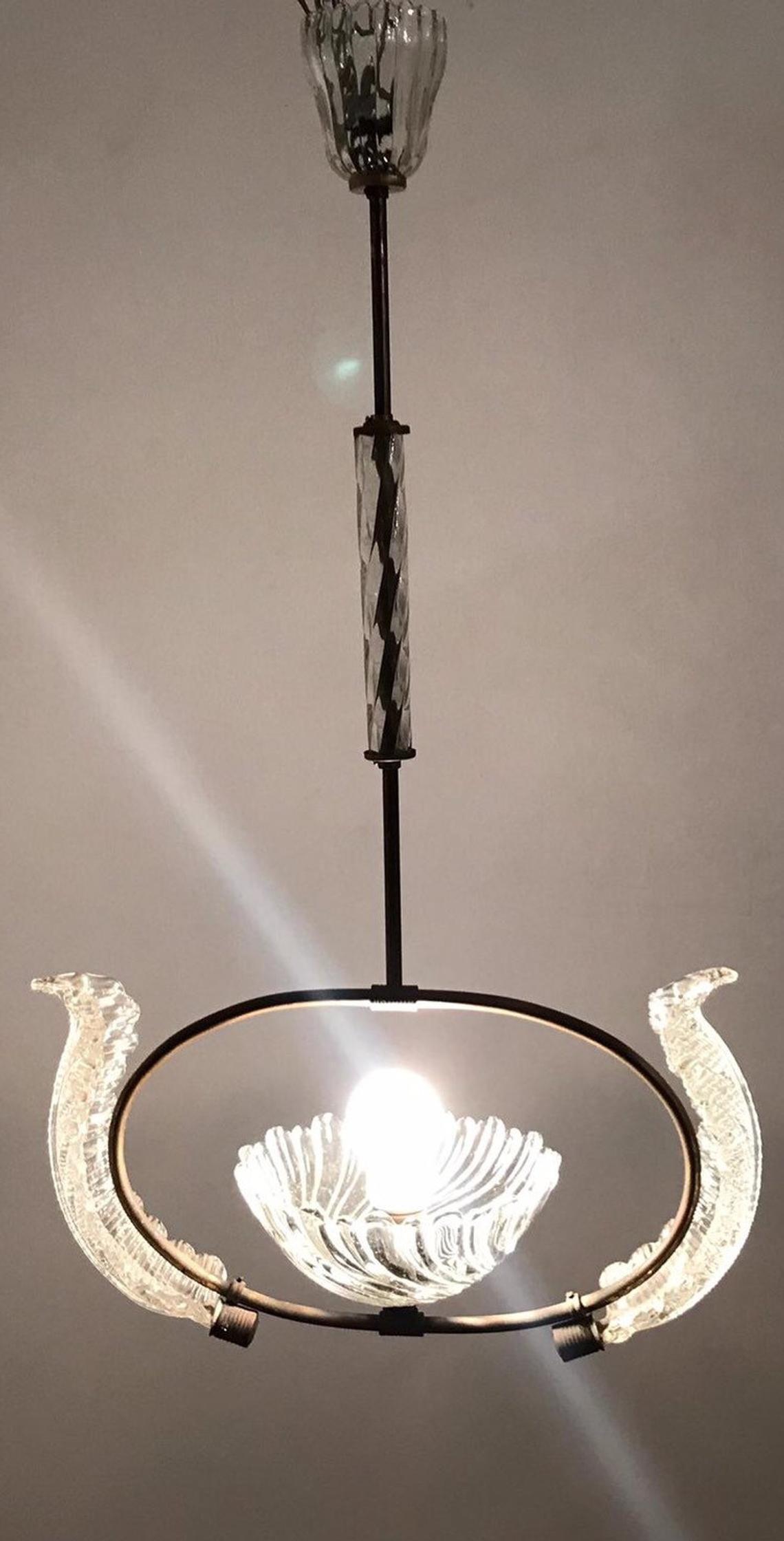 Lampadari Murano Barovier E Toso.Artdeco Murano Barovier Lampadario Lampadario Di Cristallo
