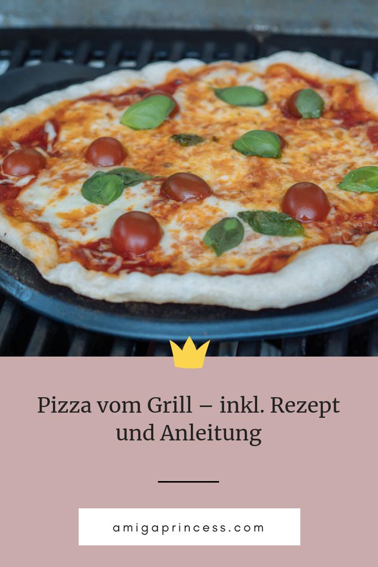 Pizza Vom Grill Rezept Und Anleitung In 2019 Happy Food Essen