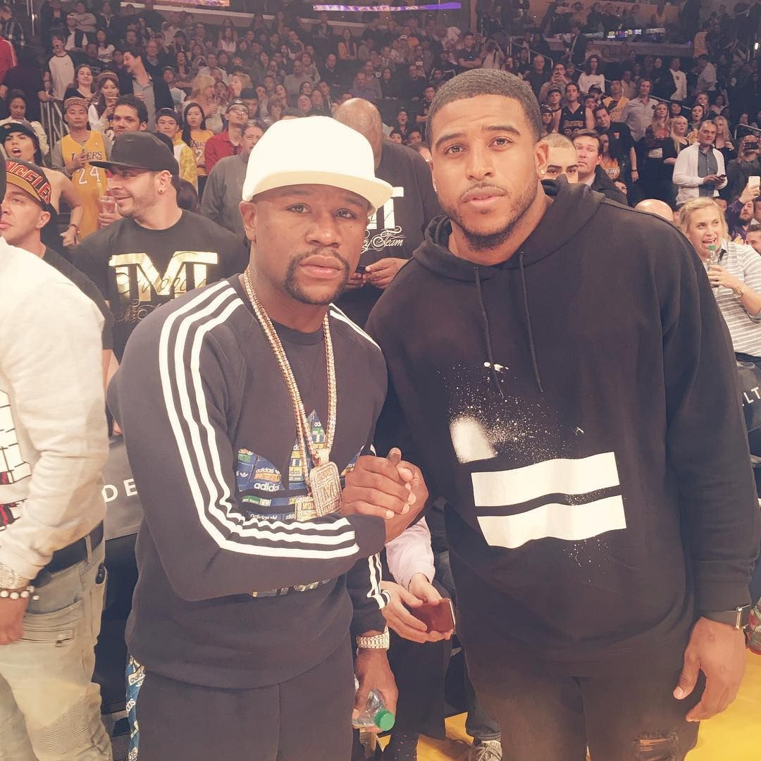 Floyd Mayweather and Bobby Wagner