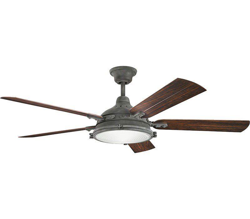 Kichler 310117wzc Ceiling Fan Weathered Zinc 60 Outdoor Ceiling