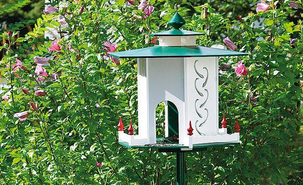 vogelfutterhaus mit silo vogelfutterh uschen vogelhaus. Black Bedroom Furniture Sets. Home Design Ideas