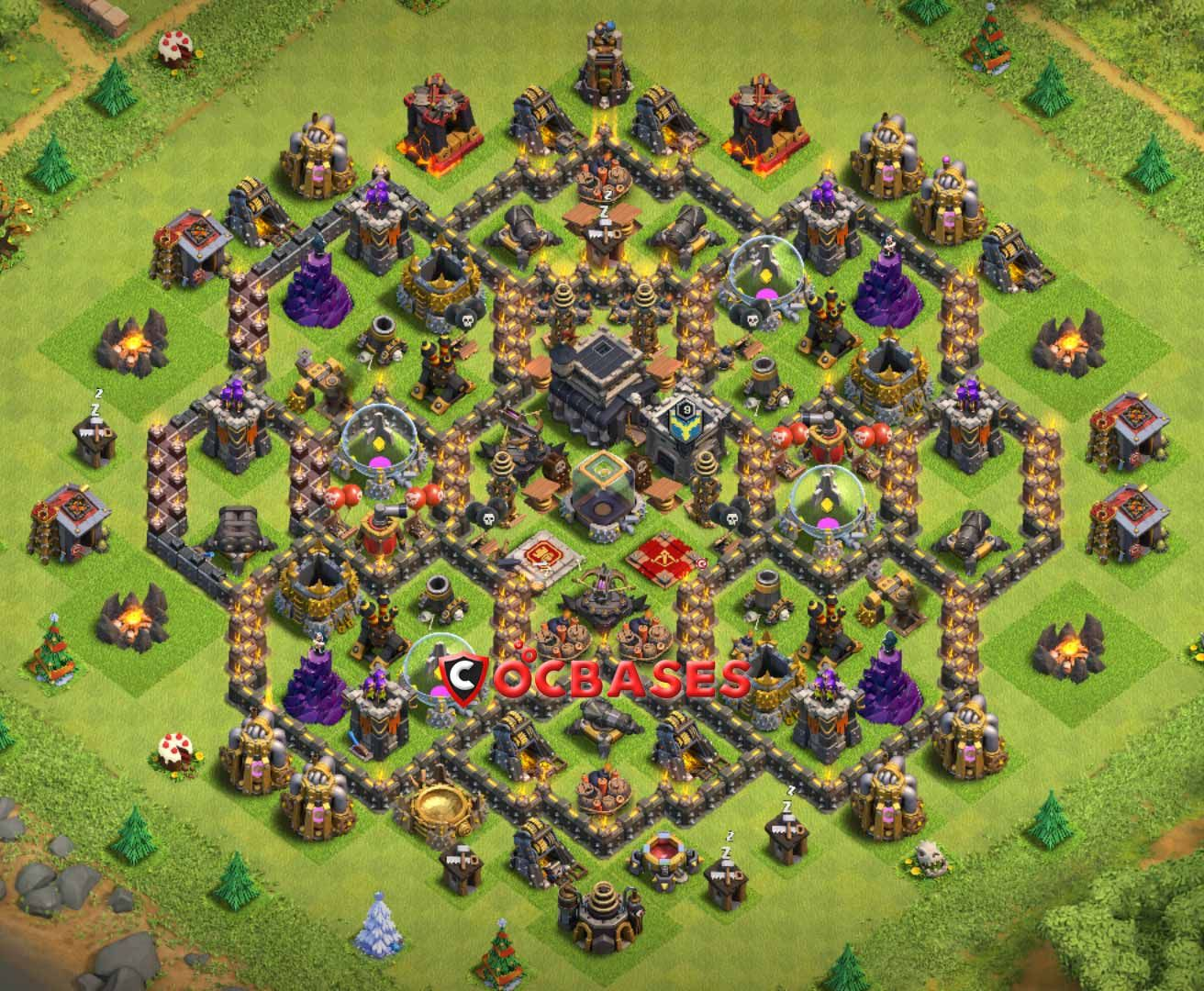 Coc Th 9 Best Base 8