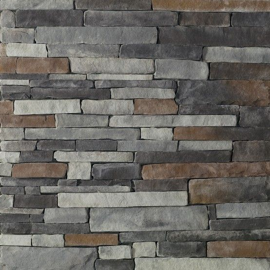 Glen gery landmark stone in the chisel gray stackstone for Brick and stone veneer