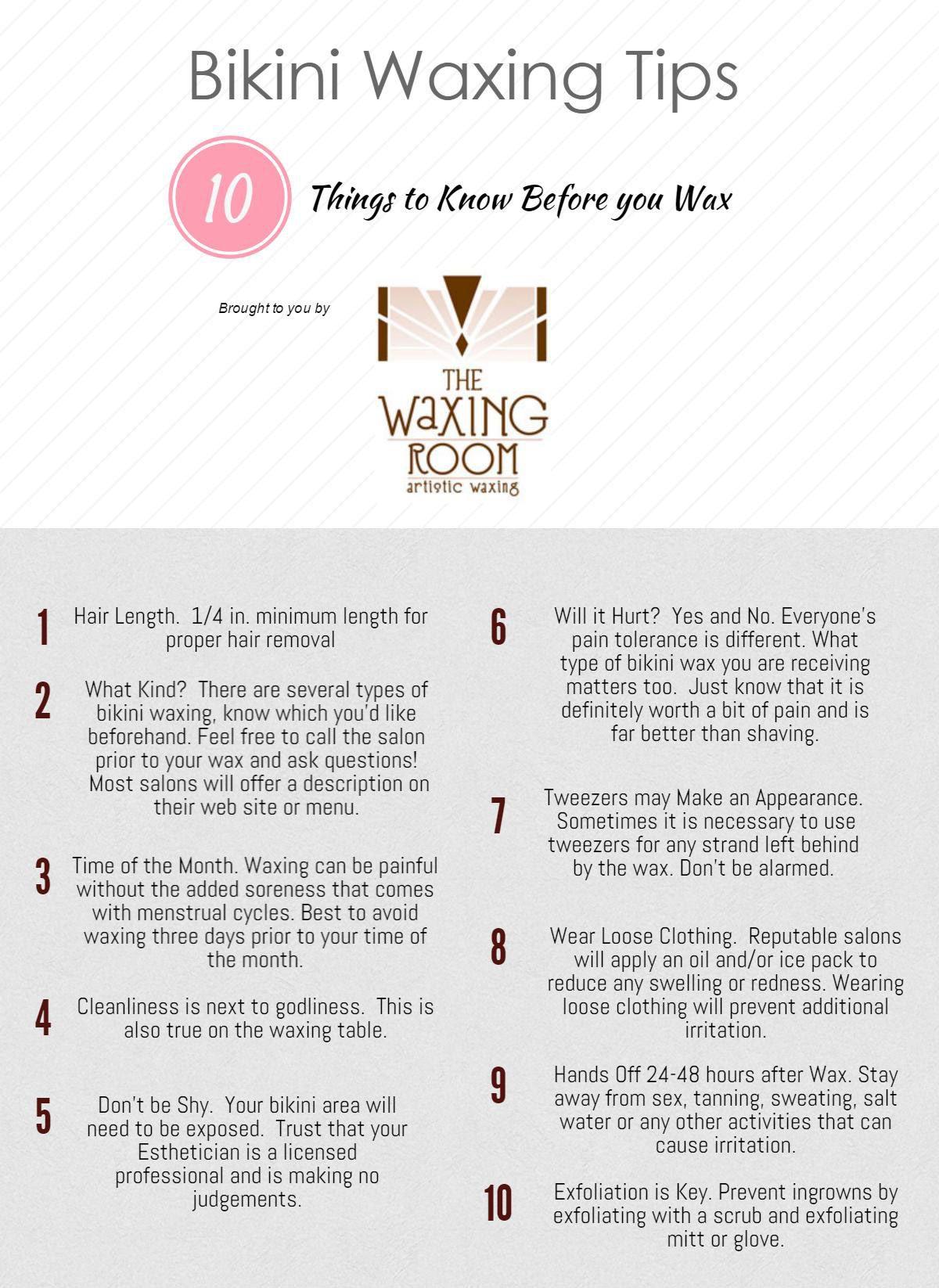 Bikini Waxing 101  Know Before You Wax! Thewaxingroom