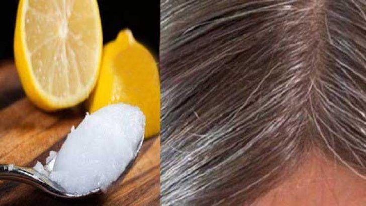 Beyaz Saclara 1 Gunde Son Hindistan Cevizi Yagi Ve Limon Karisimi