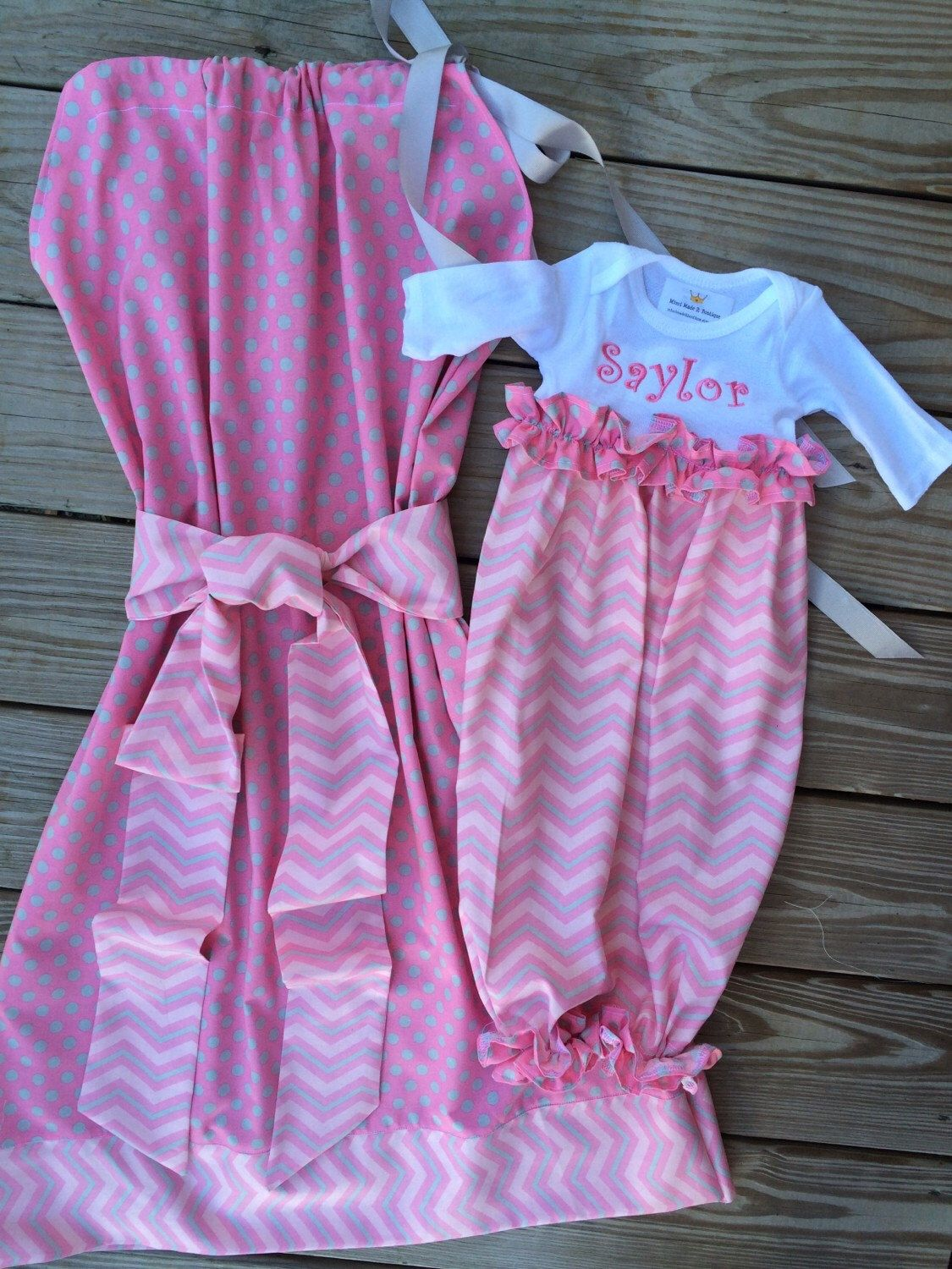 Matching Maternity hospital gowns for sale by Mimimadeitboutique on ...