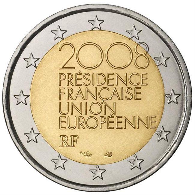 France 2 euro 2008 European Union EU Presidency UNC Bimetal
