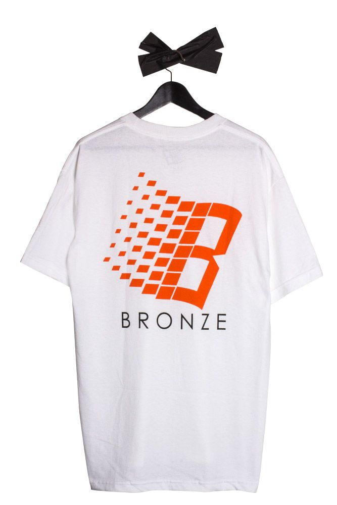 82d27e7a6 Bronze 56K - Logo T-Shirt White/Orange/Yellow now instore and online at  Bonkers Shop!
