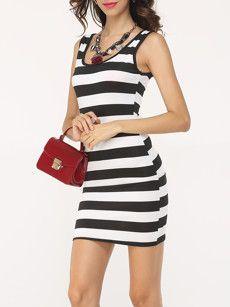 fa8375704cfb0 Fashionmia black and white shift dresses - Fashionmia.com