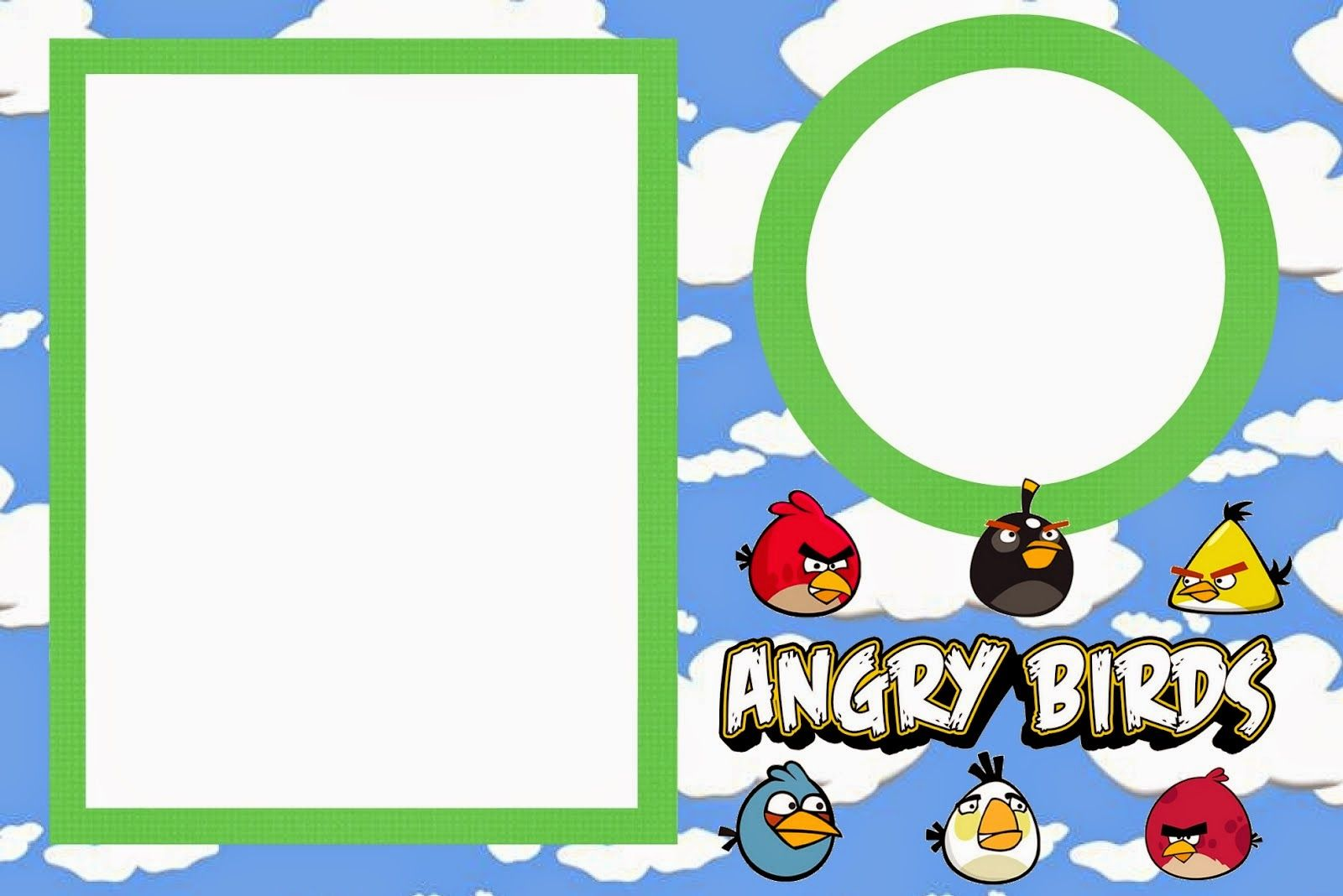 Angry birds with clouds: Free Printable Invitations. | tetcher ...