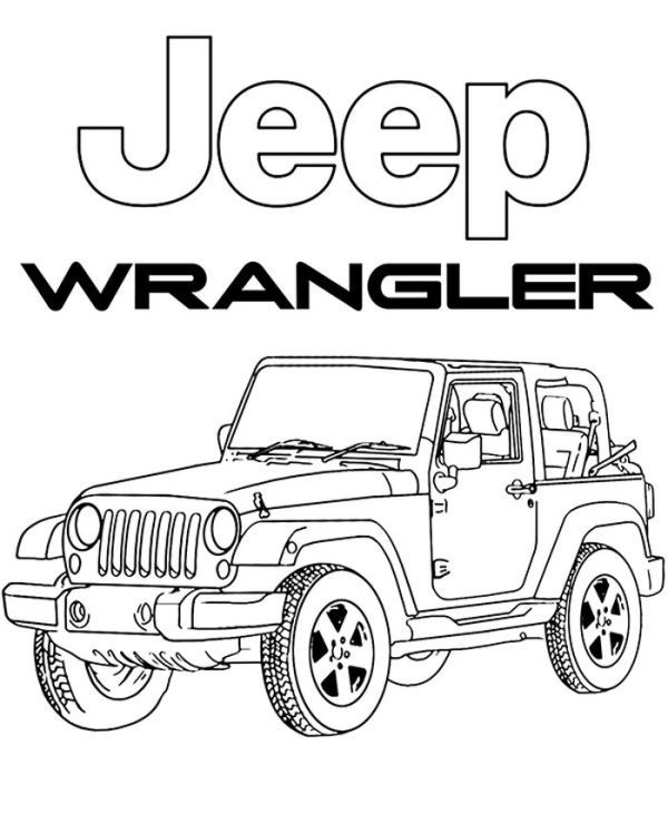 Coloring Pages Of Jeep Design