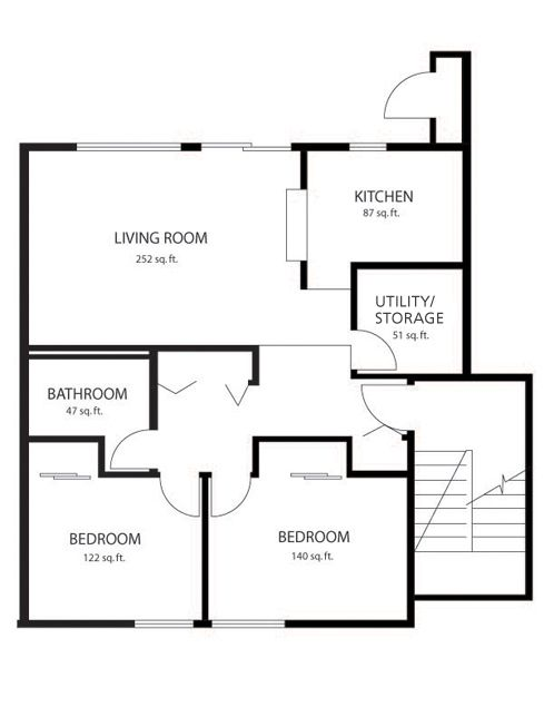 best 2 bedroom flat plan drawing. This is the floor plan for 2 bedroom flat offered at both Blakeley  Village and