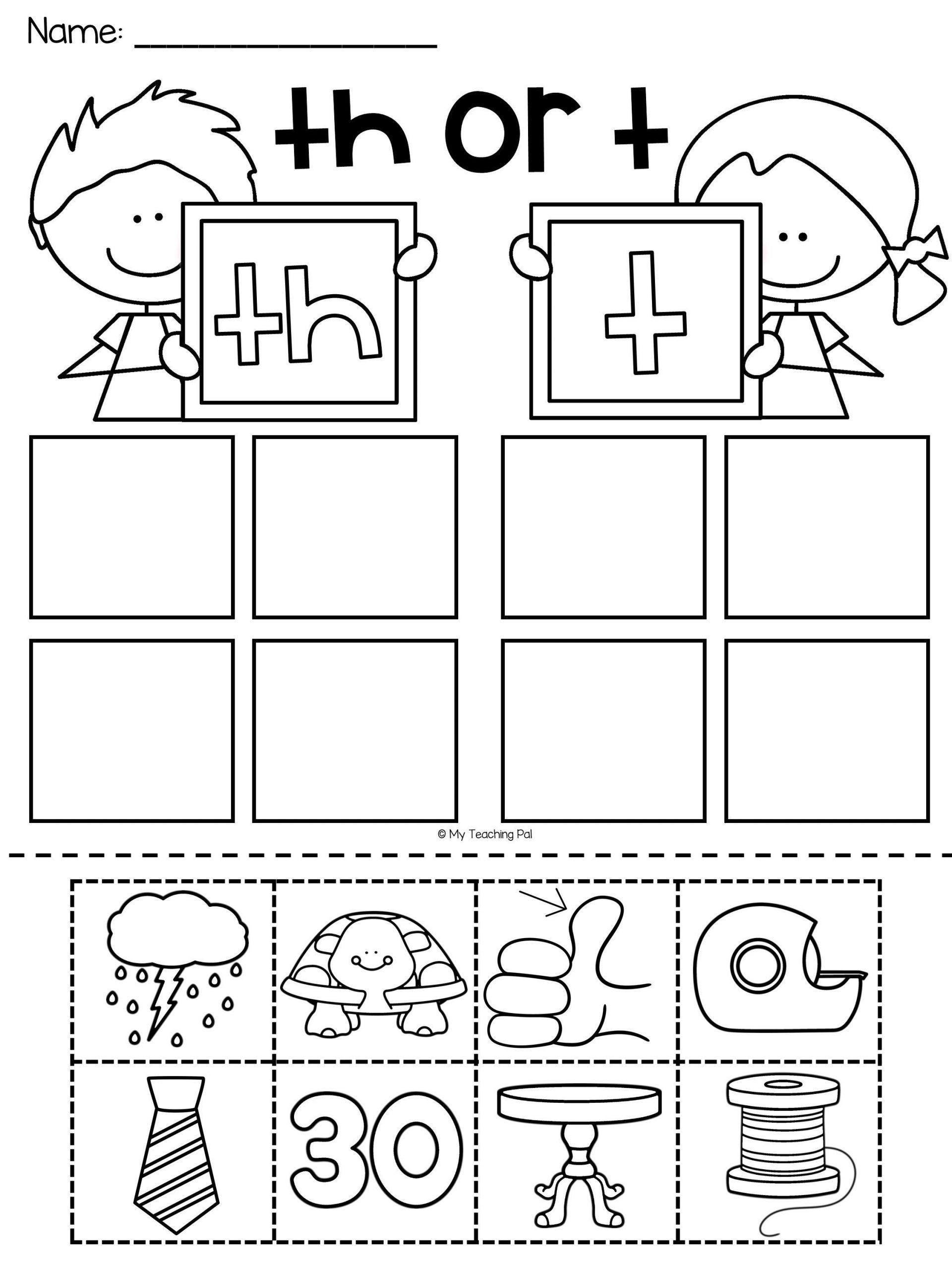 Digraph Worksheets For Kindergarten In