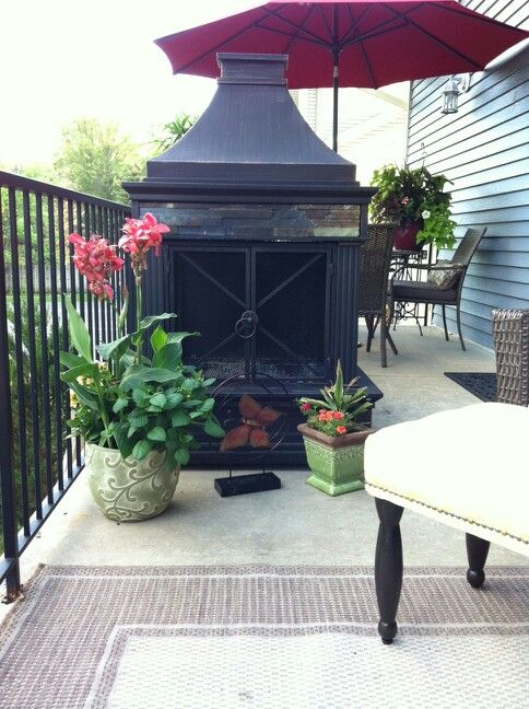 fireplace from lowes love it deck decor ideas - Deck Decor