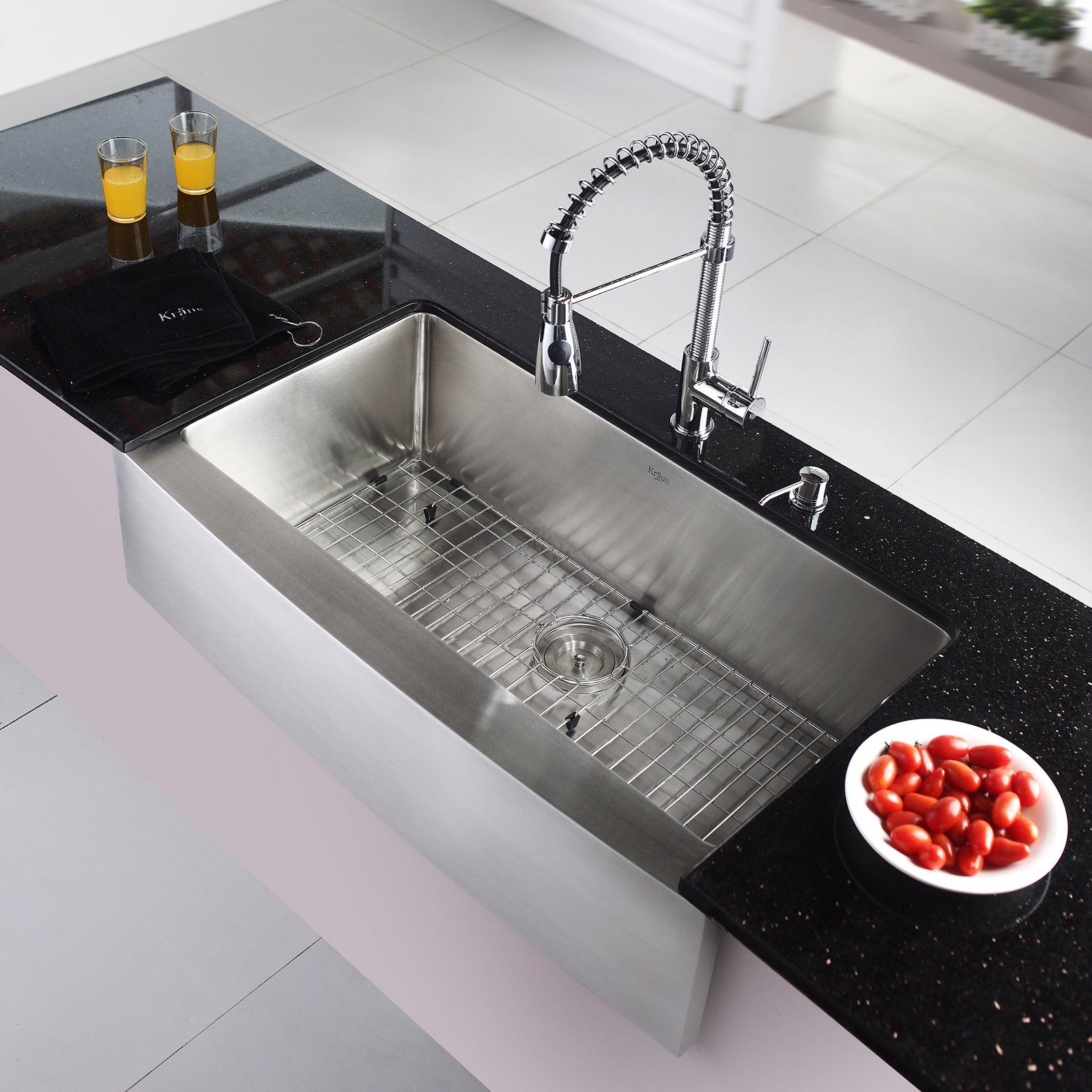 Kraus KHF200-36-KPF1612-KSD30CH Single Basin Farmhouse Kitchen Sink on cool bathroom faucet, cool kitchen cabinets, cool bathroom accessories, cool shower, cool lavatory faucet, cool bathroom sink, cool bathtub faucets,