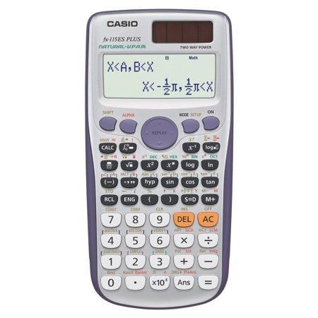 Casio Fx115esplus Scientific Calculator Natural Textbook Display Silver Walmart Com Scientific Calculators Graphing Calculator Calculator