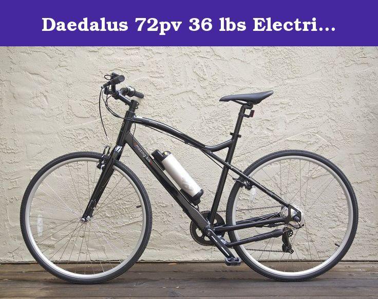 Daedalus 72pv 36 Lbs Electric Pedelec Road Bicycle Black Emazing